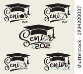 senior class of 2021 graduation ...   Shutterstock .eps vector #1934320037