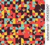 geometric elements in warm...   Shutterstock .eps vector #1934331047