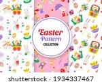 seamless easter pattern vector... | Shutterstock .eps vector #1934337467