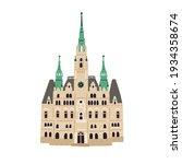 facade of liberec town hall....   Shutterstock .eps vector #1934358674