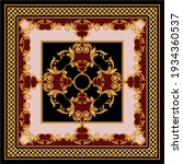 golden floral baroque element... | Shutterstock .eps vector #1934360537