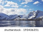 nordic landscape. mountains | Shutterstock . vector #193436351