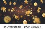 Falling Golden Poker Chips ...