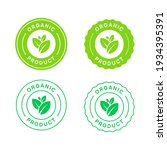 organic product vector icon... | Shutterstock .eps vector #1934395391