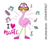 cute summer stickers flamingo...   Shutterstock .eps vector #1934395967