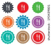 eat sign icon. cutlery symbol.... | Shutterstock .eps vector #193439801