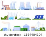 set of power plants of...   Shutterstock .eps vector #1934404304