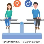 image illustration of gender...   Shutterstock .eps vector #1934418404