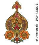 mughal art pattern design motif ... | Shutterstock .eps vector #1934433071