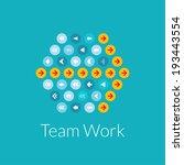 team work flat design vector... | Shutterstock .eps vector #193443554