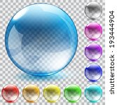 set of ten multicolored... | Shutterstock .eps vector #193444904