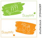grunge summer banners with... | Shutterstock .eps vector #193446089
