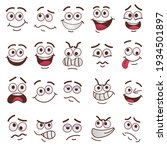 trendy funny faces flat... | Shutterstock .eps vector #1934501897