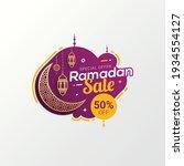 ramadan sale label badge banner ... | Shutterstock .eps vector #1934554127