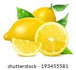 vector. fresh lemons with... | Shutterstock .eps vector #193455581