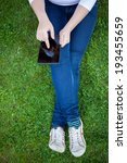 woman using digital tablet pc...   Shutterstock . vector #193455659