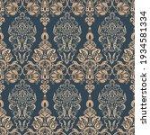 baroque seamless floral pattern.... | Shutterstock . vector #1934581334