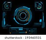 sci fi futuristic user... | Shutterstock .eps vector #193460531
