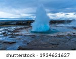 Iceland   Geysers Explodes Into ...