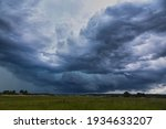 Supercell Storm Clouds With...