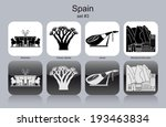 landmarks of spain. set of... | Shutterstock .eps vector #193463834