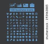 100 business  marketing ... | Shutterstock .eps vector #193463885