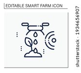 irrigating land line icon.... | Shutterstock .eps vector #1934656907