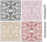 seamless backgrounds set  retro ... | Shutterstock .eps vector #193466297