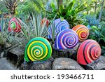 Colorful Of Sculpture Snails I...