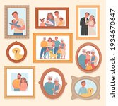 family photos. parents and kids ... | Shutterstock .eps vector #1934670647