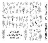 floral doodle design elements....   Shutterstock .eps vector #1934678357