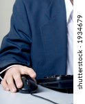 businessman with hand on mouse | Shutterstock . vector #1934679