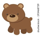 funny bear vector illustration | Shutterstock .eps vector #193468739