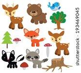 animal,animals,bear,bird,cartoon,colorful,cute,deer,fawn,forest,fox,funny,hedgehog,illustration,nice