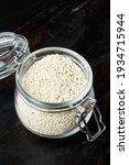 Sesame Seeds Set  In Glass Jar  ...