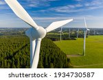 Windmill In A Rural Area During ...