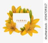 yellow lily flower bouquet... | Shutterstock .eps vector #1934739317