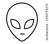 face of extraterrestrial alien... | Shutterstock .eps vector #1934755274