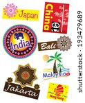 asia country travel icon set | Shutterstock . vector #193479689