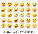 emoticon emojis vector set....   Shutterstock .eps vector #1934803301