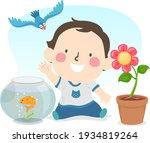 illustration of a kid boy...   Shutterstock .eps vector #1934819264