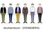 illustration set of a man who...   Shutterstock .eps vector #1934838941