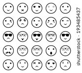 icons of smiley faces   vector | Shutterstock .eps vector #193485437