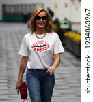 Small photo of London, United Kingdom - March 12 2021: Actress and radio host Amanda Holden is seen outside the Global Radio Studios.