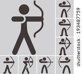 summer sports icons set  ... | Shutterstock .eps vector #193487759