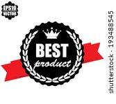 best product guarantee black... | Shutterstock .eps vector #193488545