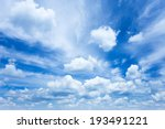 Stock photo sky clouds 193491221