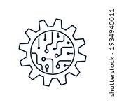 gear  microcircuit. the concept ... | Shutterstock .eps vector #1934940011