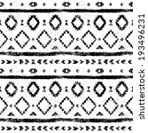 black and white aged geometric... | Shutterstock .eps vector #193496231