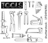 tools icons set  sketch tool... | Shutterstock .eps vector #193496981